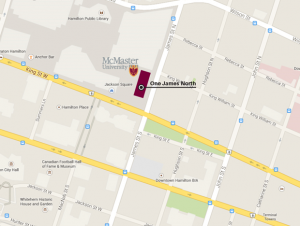 Map of McMaster University at Jackson Square