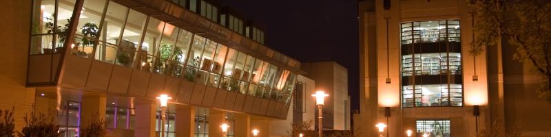 McMaster Campus at night